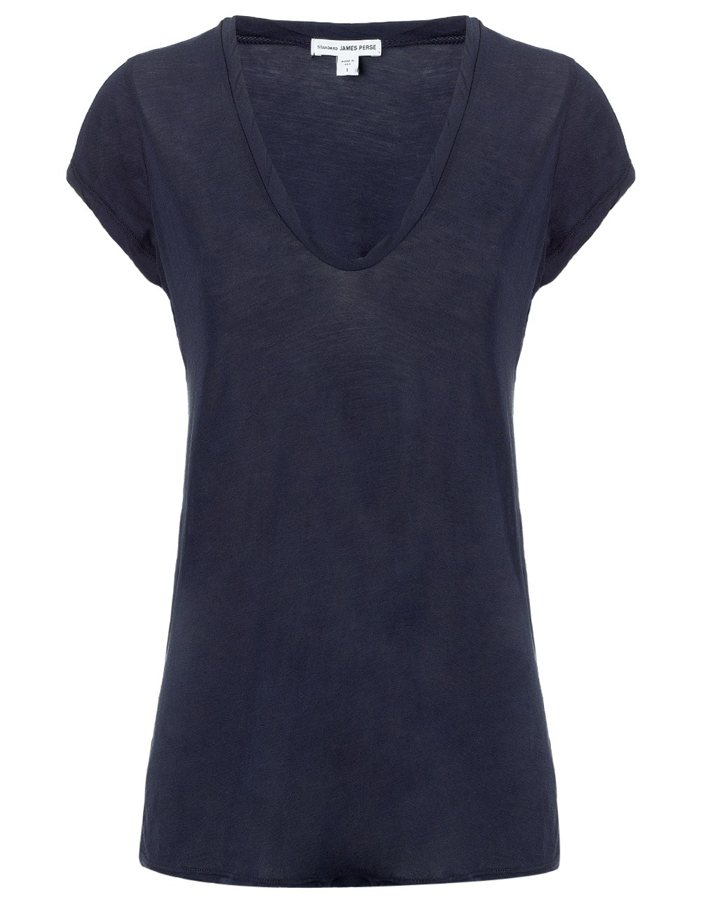 James perse navy jersey high gauge t shirt in blue navy for James perse t shirts sale