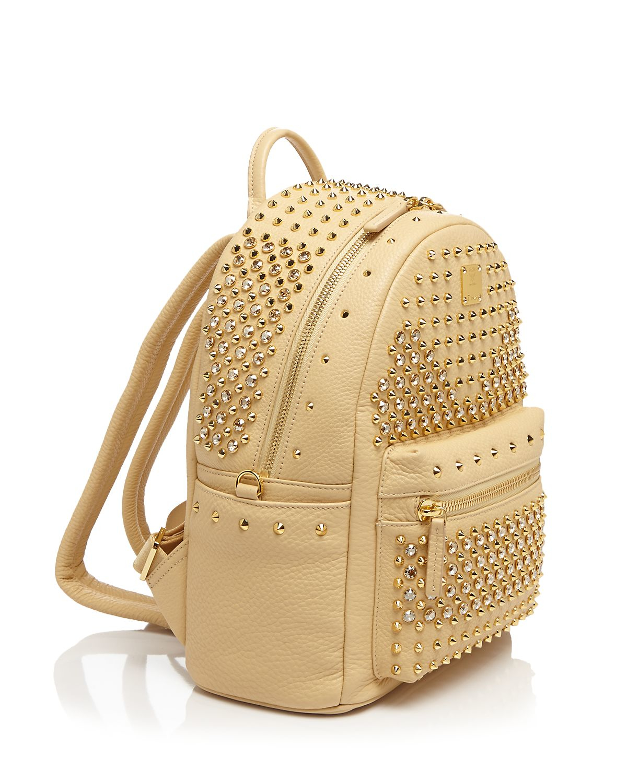 mcm backpack stark special stud small in black lyst. Black Bedroom Furniture Sets. Home Design Ideas