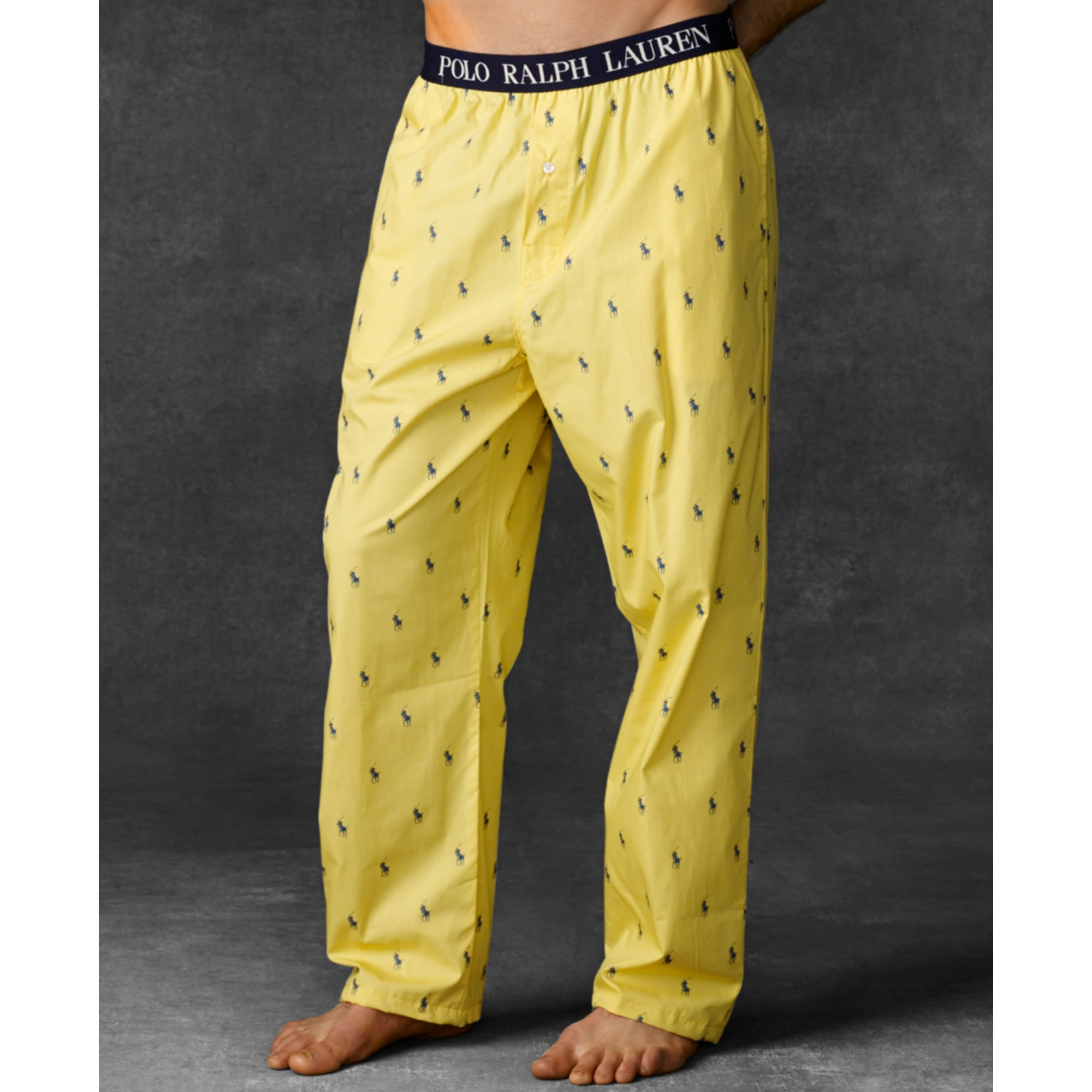 Lyst Ralph Lauren Polo Mens Polo Player Pajama Pants In Yellow For Men