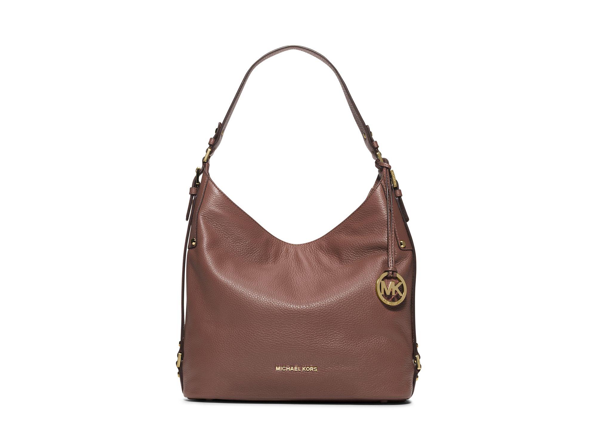 9ed657db846761 MICHAEL Michael Kors Bedford Large Belted Shoulder Bag in Pink - Lyst