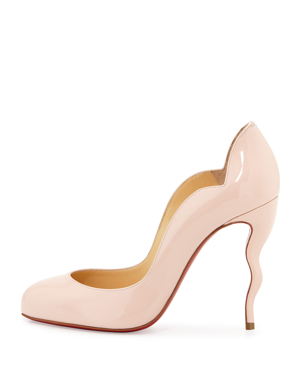knockoff christian louboutin pumps - christian louboutin round-toe d'Orsay pumps Pink patent leather ...