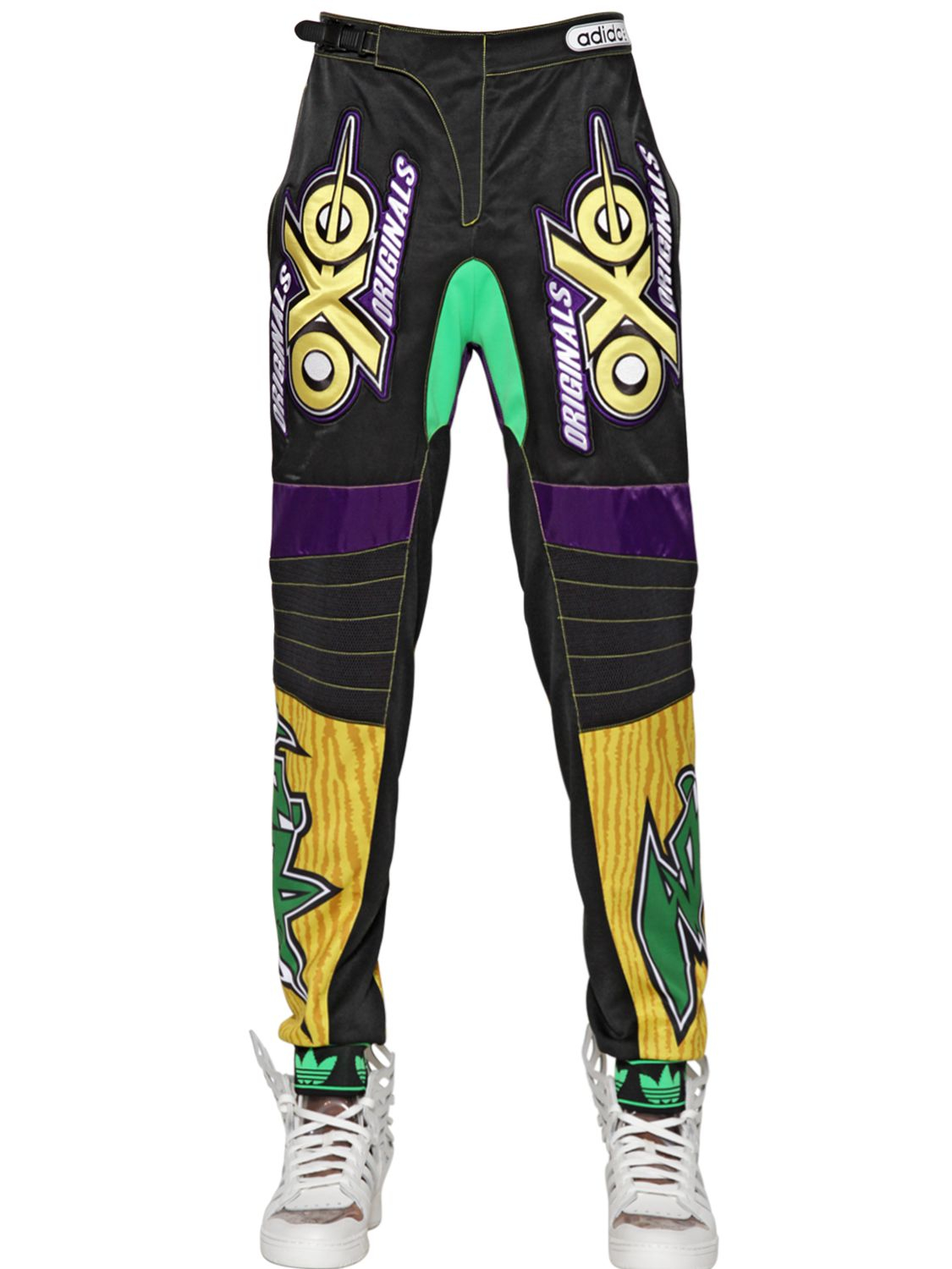 0c1f322917f4 Lyst - Jeremy Scott for adidas Motor Cross Embroidered Trousers in ...