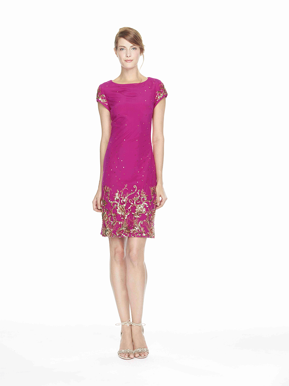 Notte by marchesa Beaded Shift Cocktail Dress in Pink | Lyst