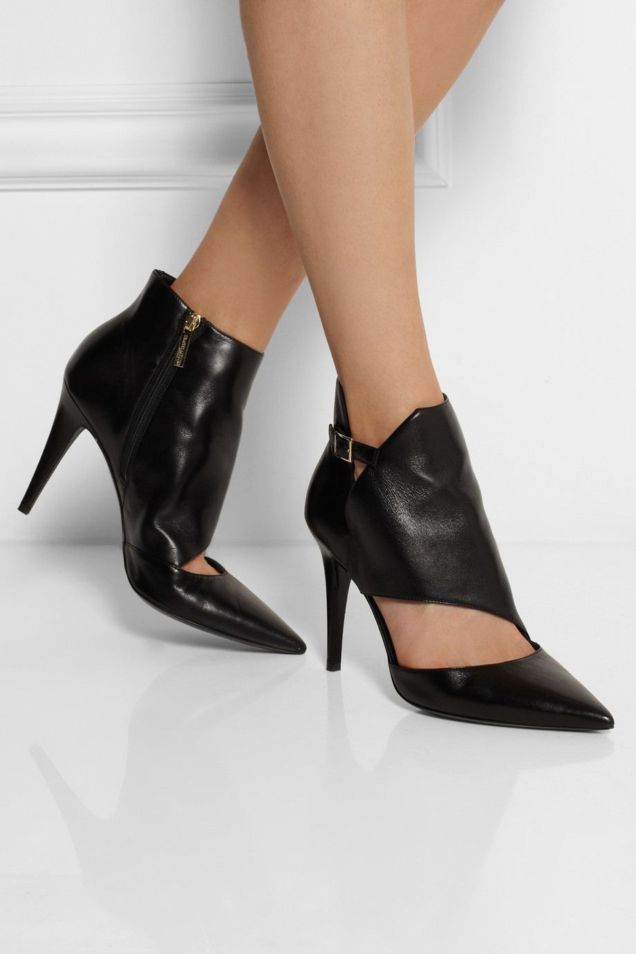 Tamara Mellon Madness Cutout Leather Ankle Boots In Black  Lyst-7027