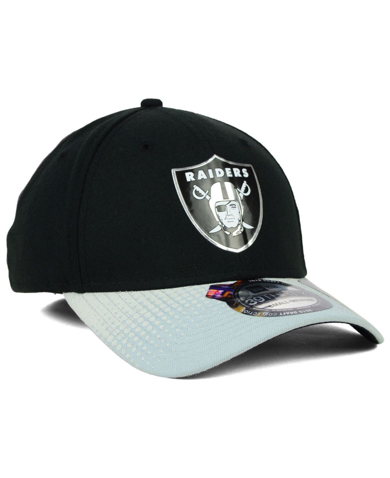 sports shoes f7702 6d087 ... discount lyst ktz oakland raiders 2015 nfl draft 39thirty cap in black  for men 9769c a656c