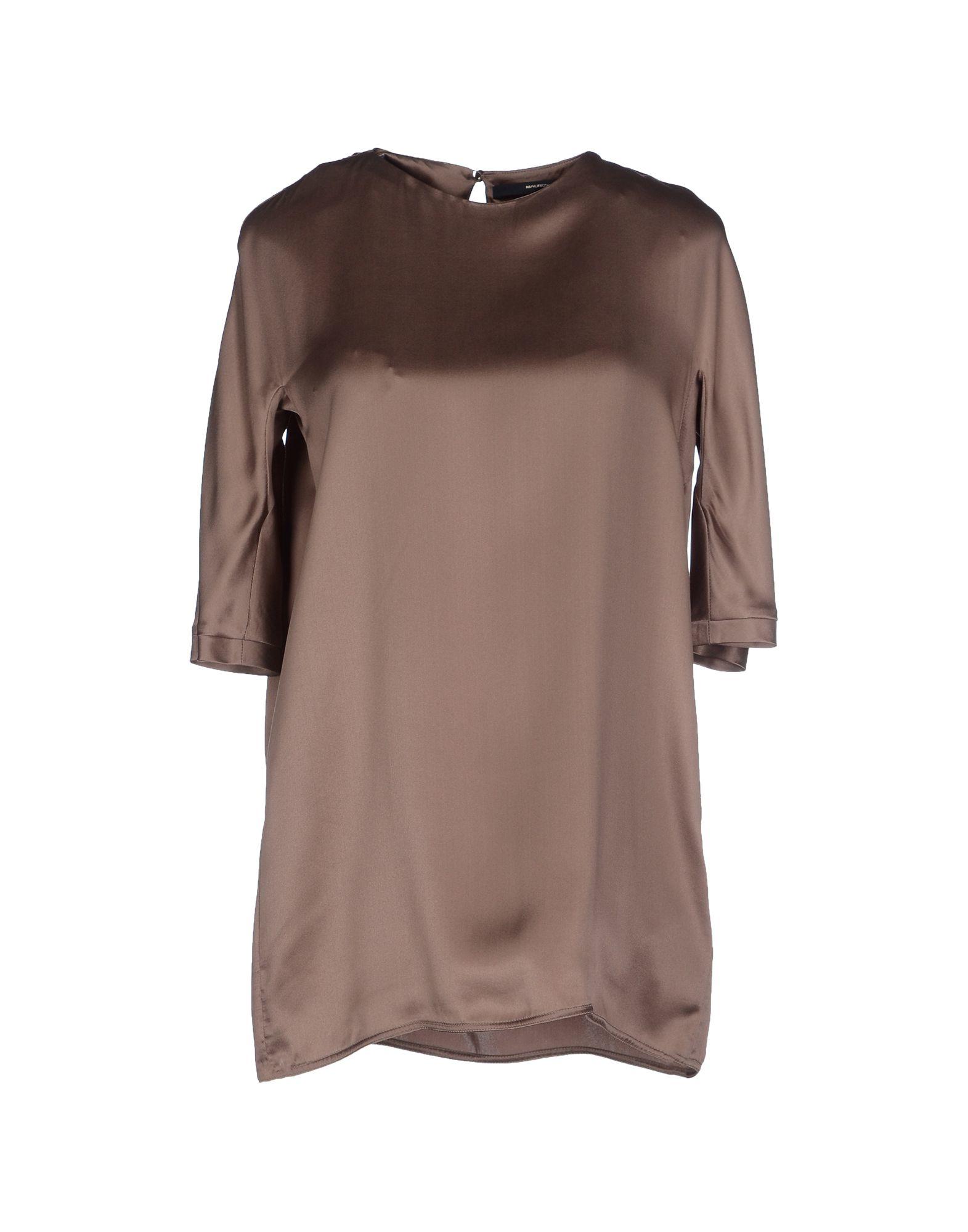 Maurizio pecoraro blouse in khaki lyst for Maurizio pecoraro shop on line
