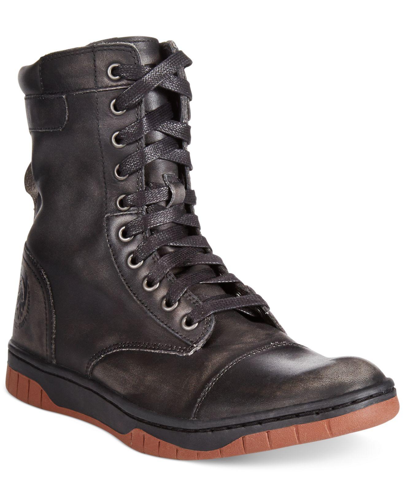 Diesel Tatradium Basket Butch Zip Boots in Black for Men ...