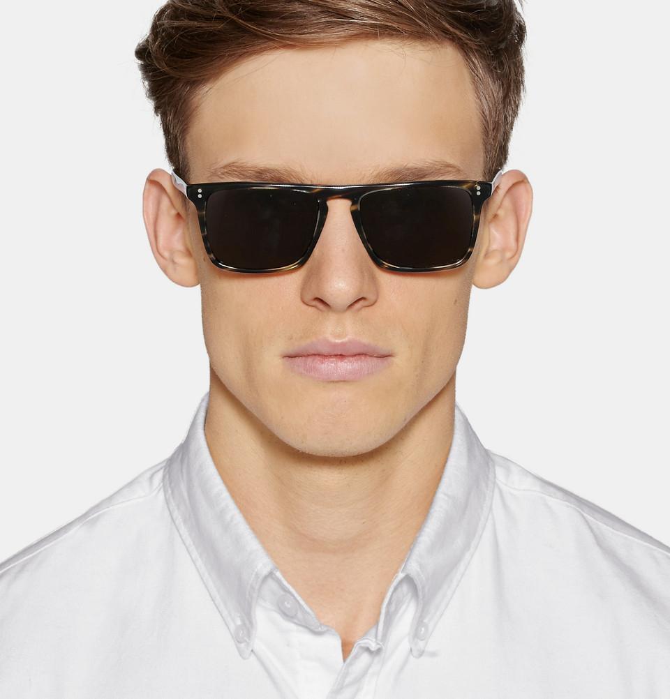 ba4426d035c Lyst - Oliver Peoples Bernardo D-Frame Acetate Sunglasses in Brown ...