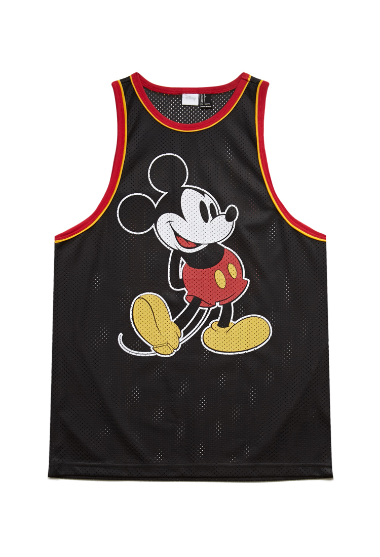 21 Mickey Mouse Nail Art Designs Ideas: Forever 21 Mickey Mouse Mesh Jersey In Red