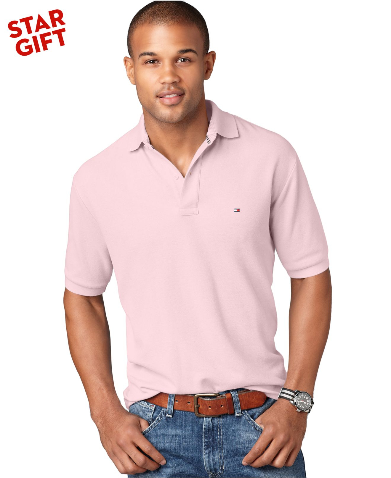 Lyst Tommy Hilfiger Classic Ivy Polo Shirt In Pink For Men