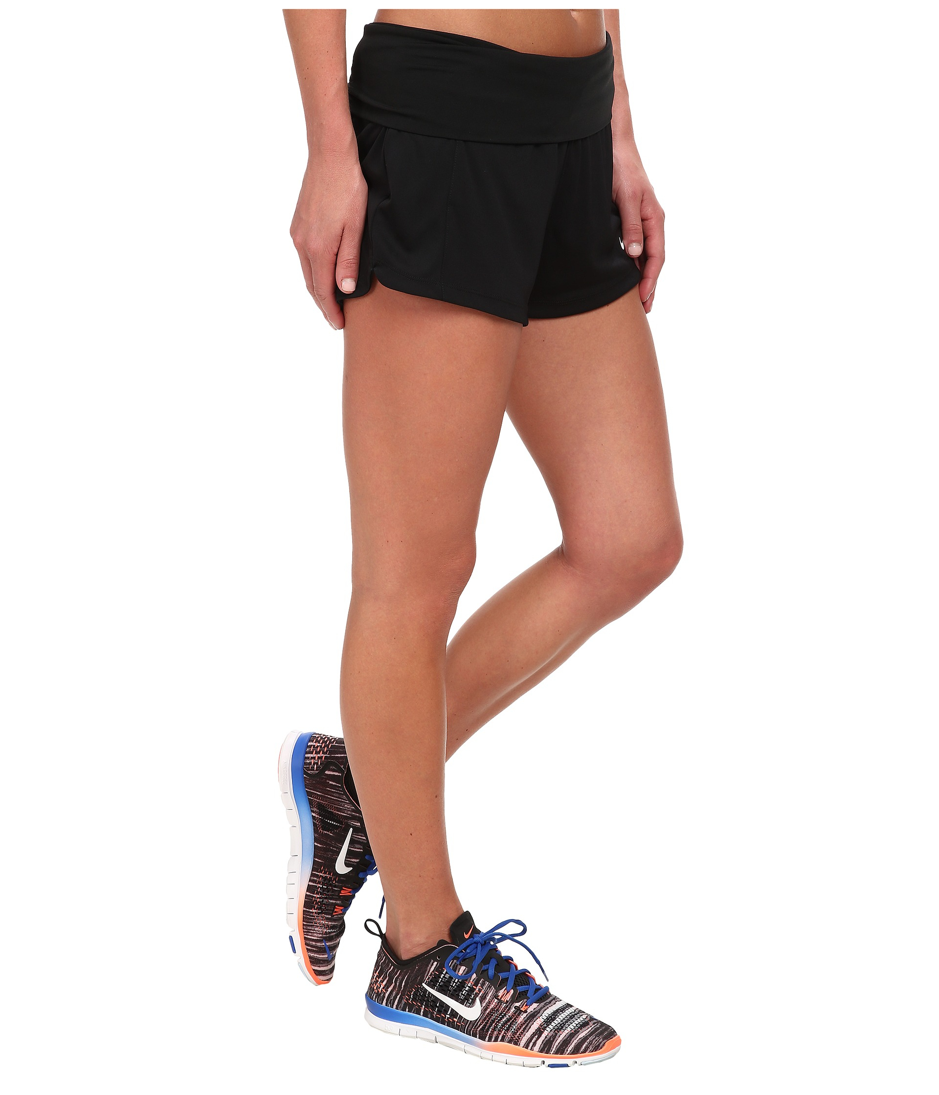b83473daff Nike Dri-fit™ Knit Short W/ Fold-over Waistband in Black - Lyst