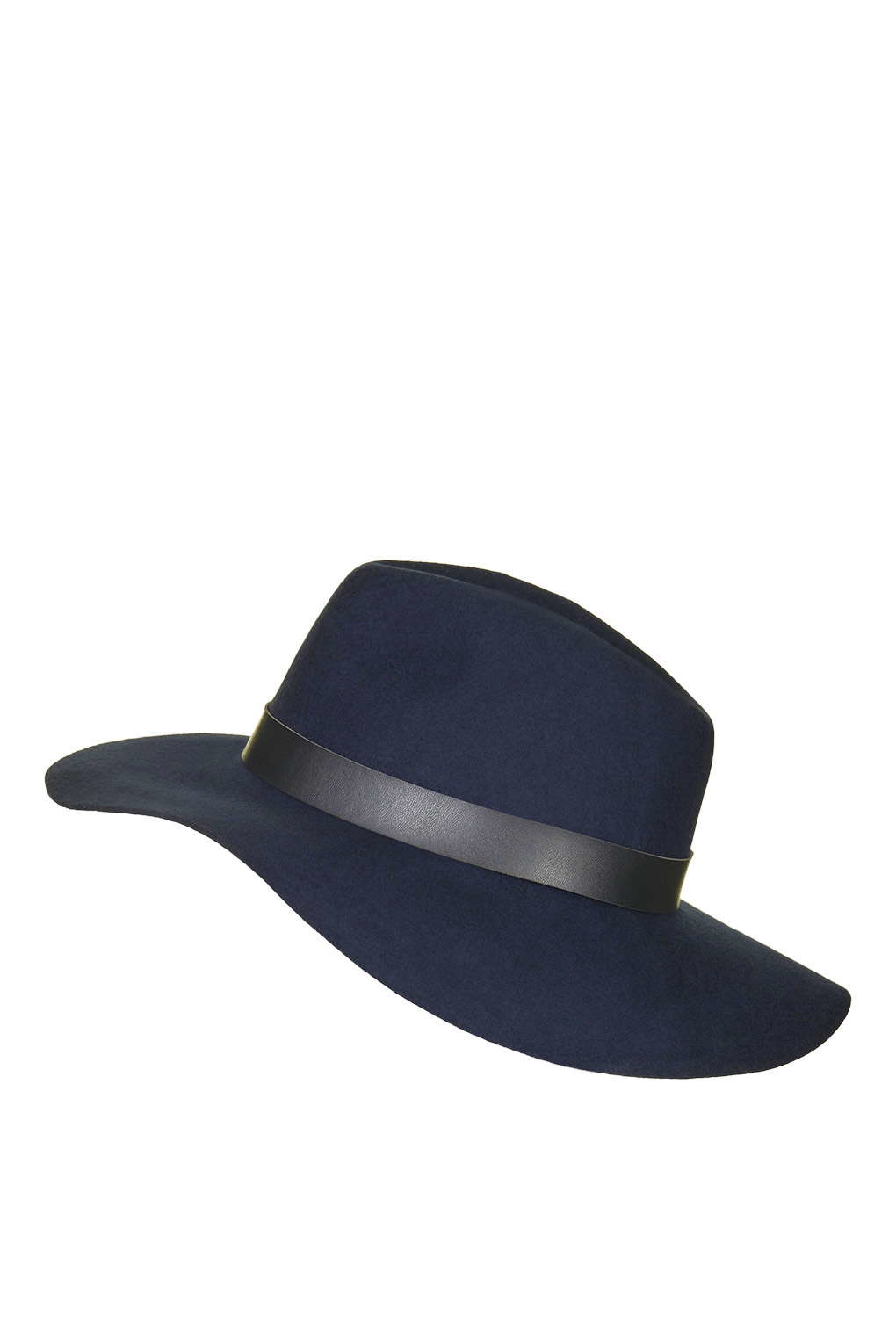 e629c9f0552 Lyst - TOPSHOP Wide Brim Fedora Hat in Blue