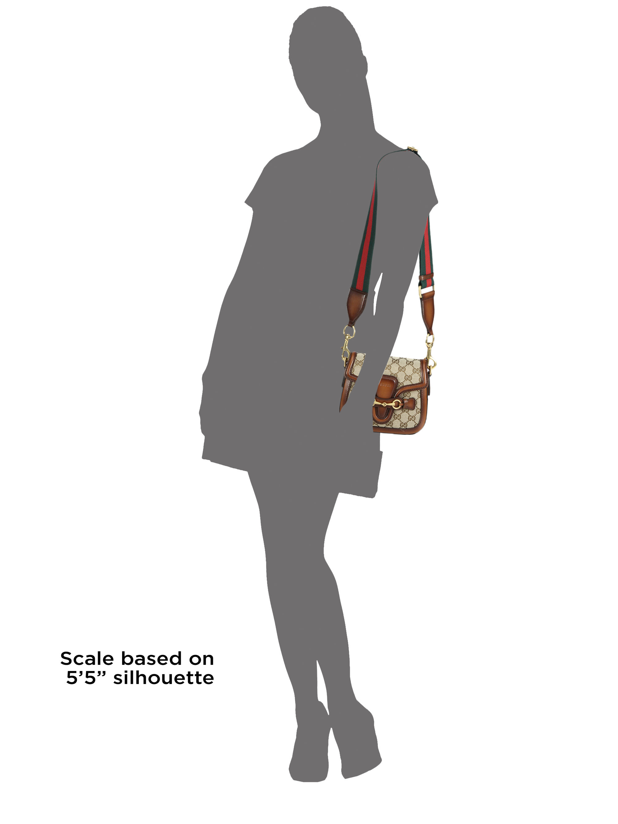 Gucci Lady Web Original Gg Canvas Shoulder Bag in Natural | Lyst