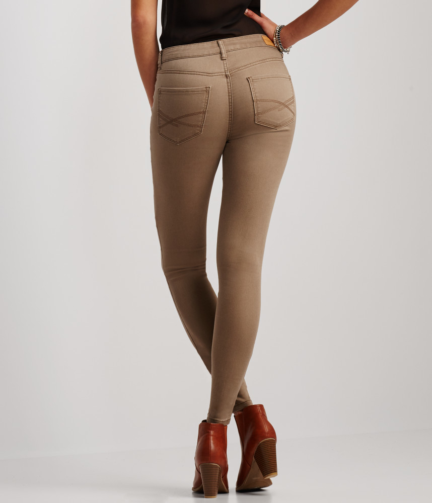 High Waisted Brown Jeans