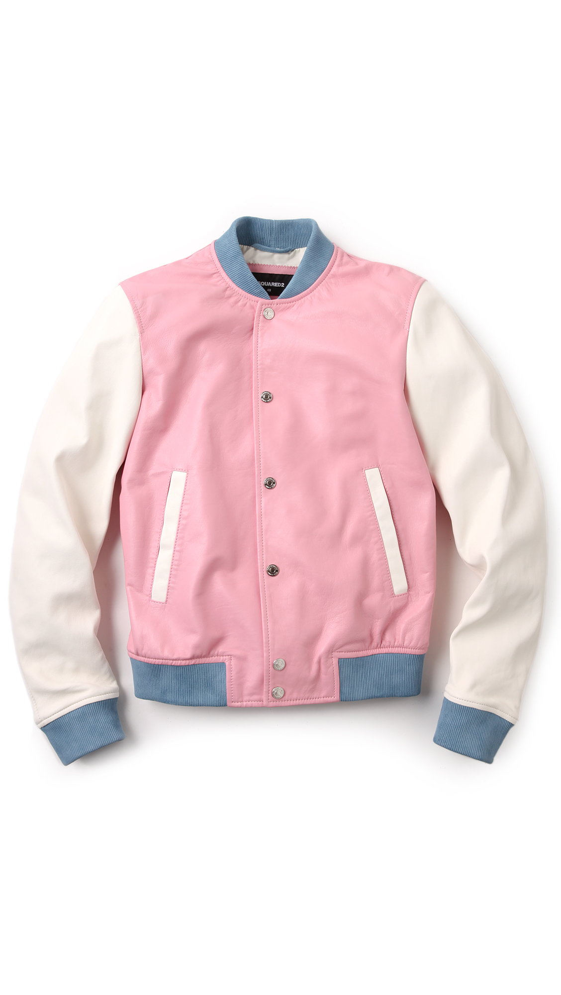 Dsquared 178 Pastel Leather Bomber In Pink For Men Lyst