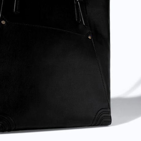 Zara Shopper Bag Black Black Zara Shopper Bag