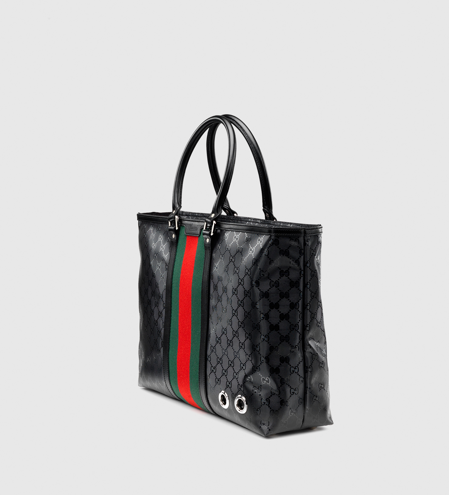 gucci 500 by gg imprim tote in black lyst. Black Bedroom Furniture Sets. Home Design Ideas