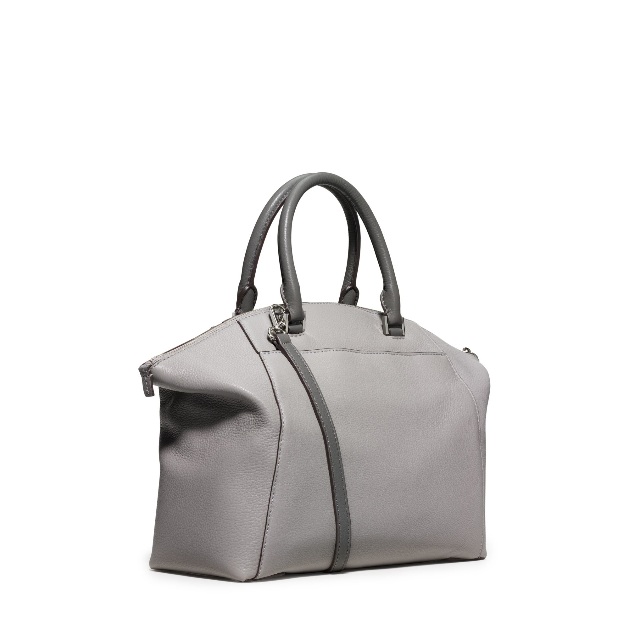 ... canada lyst michael kors riley large leather satchel in gray 8b963 b9d9d e518b5f99c6bb