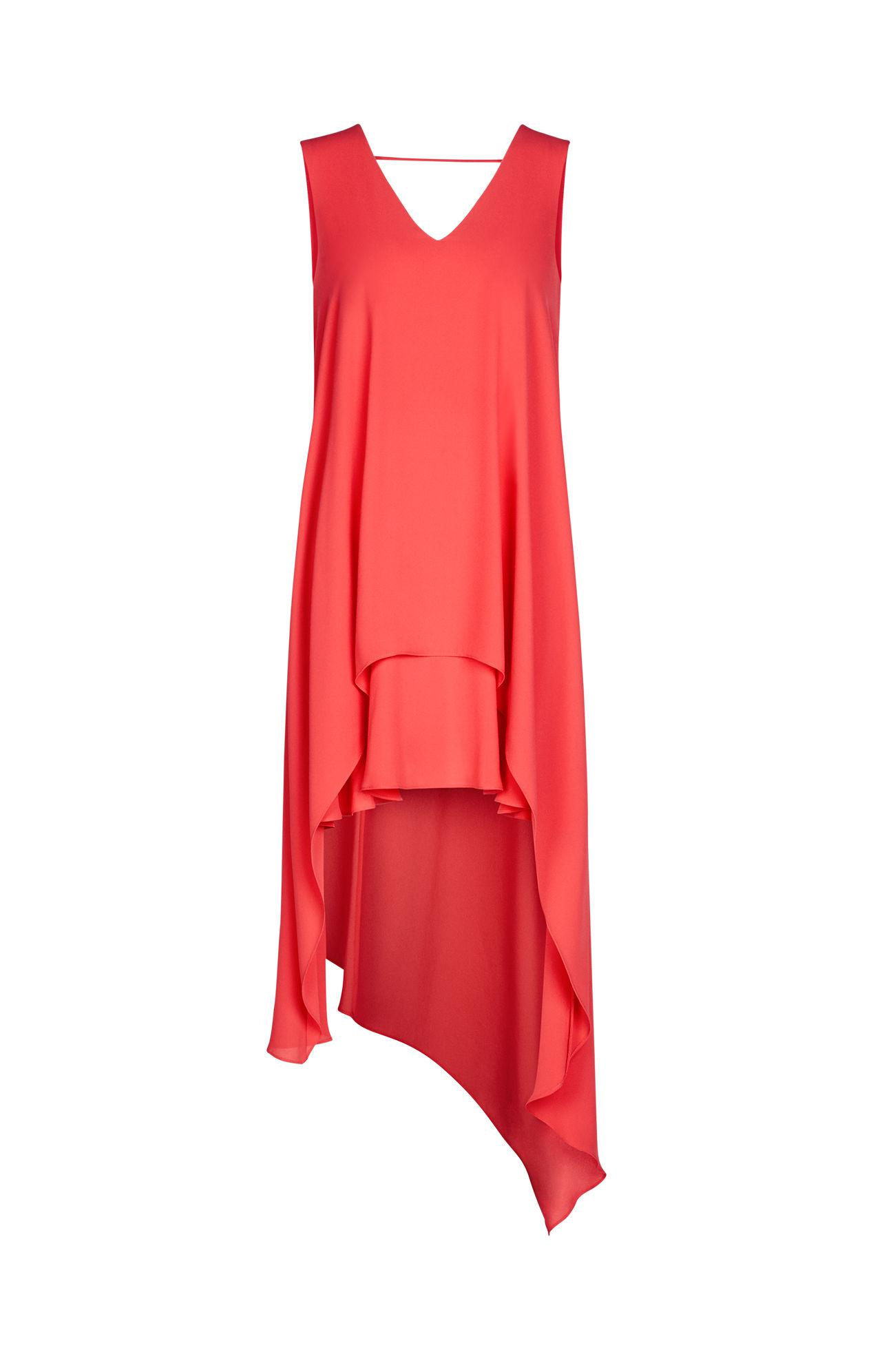 7b8ac49e64c BCBGMAXAZRIA Kaira Asymmetrical Layered Dress in Red - Lyst