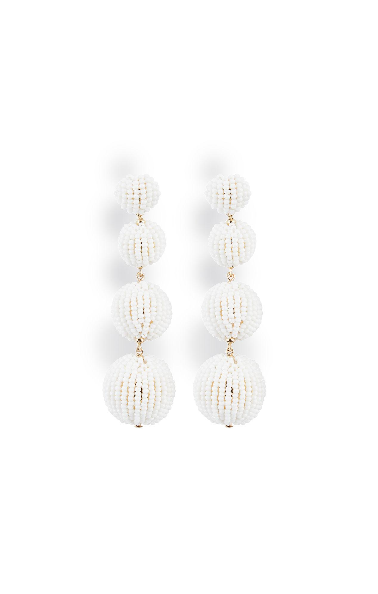lyst fringe white in pannee s panacea statement beaded by jewelry earrings women