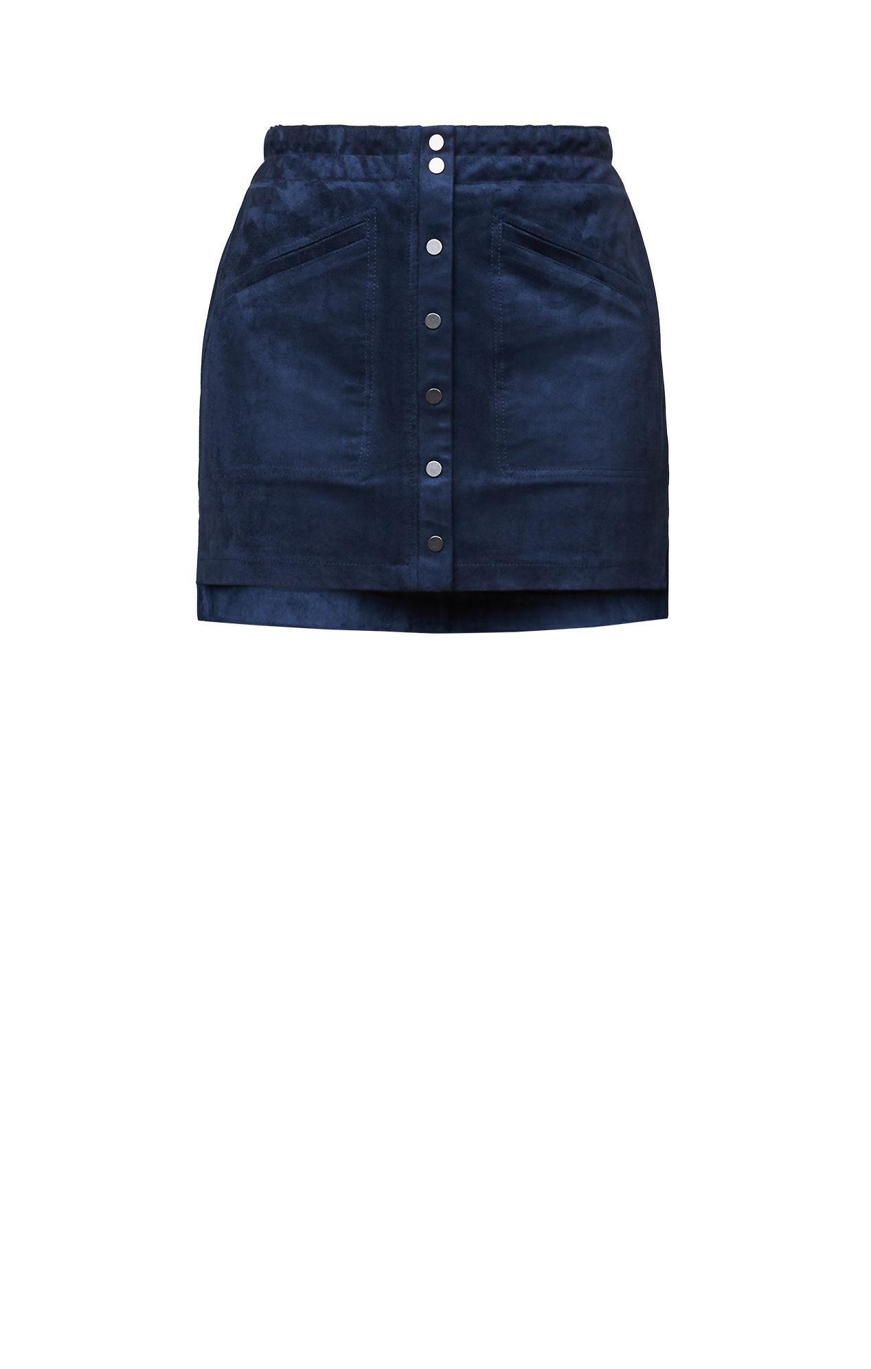 145e4b6eb BCBGMAXAZRIA Bcbg Mora Faux-suede Miniskirt in Blue - Lyst