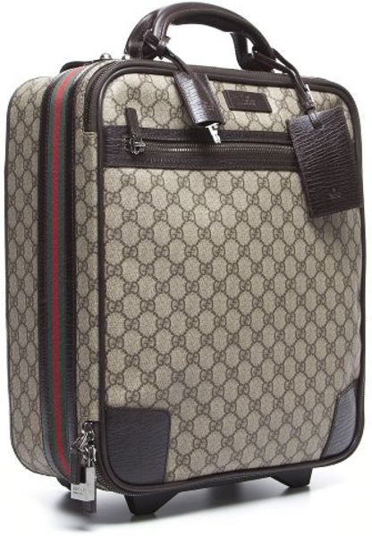 Gucci Preowned Beige Gg Canvas Webbed Vintage Rolling