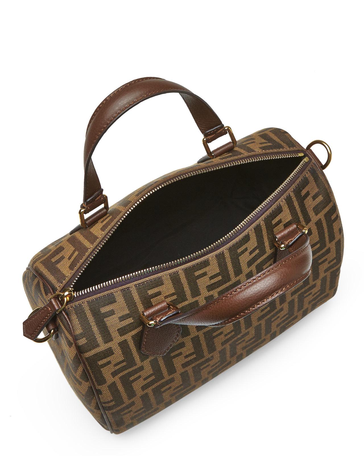 103b7c891684 ... new zealand lyst fendi zucca boston bag in metallic 35732 f9130 ...