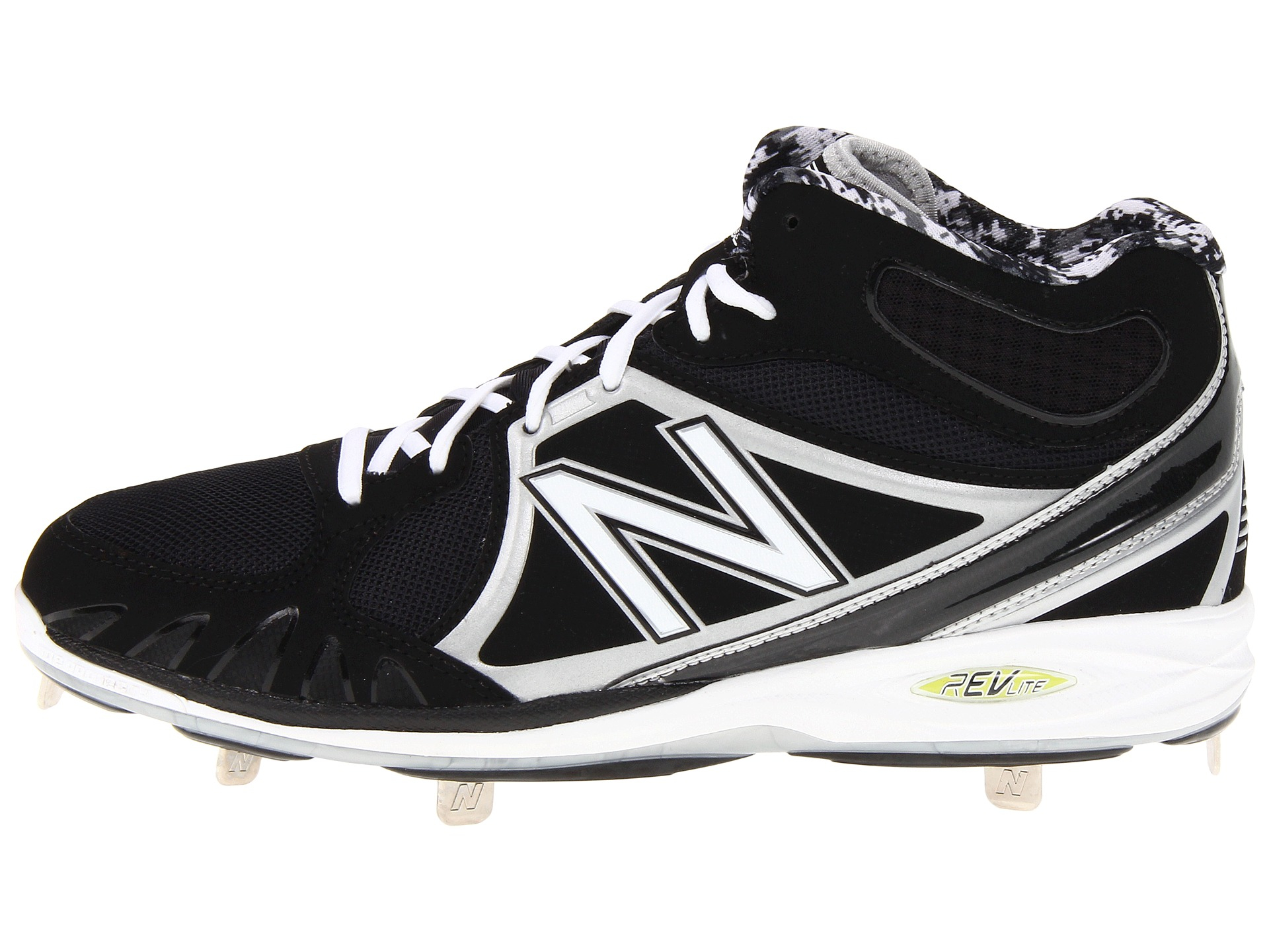 dab25060eb833 Lyst - New Balance Mb3000 Metal Mid-cut Cleat in Black for Men