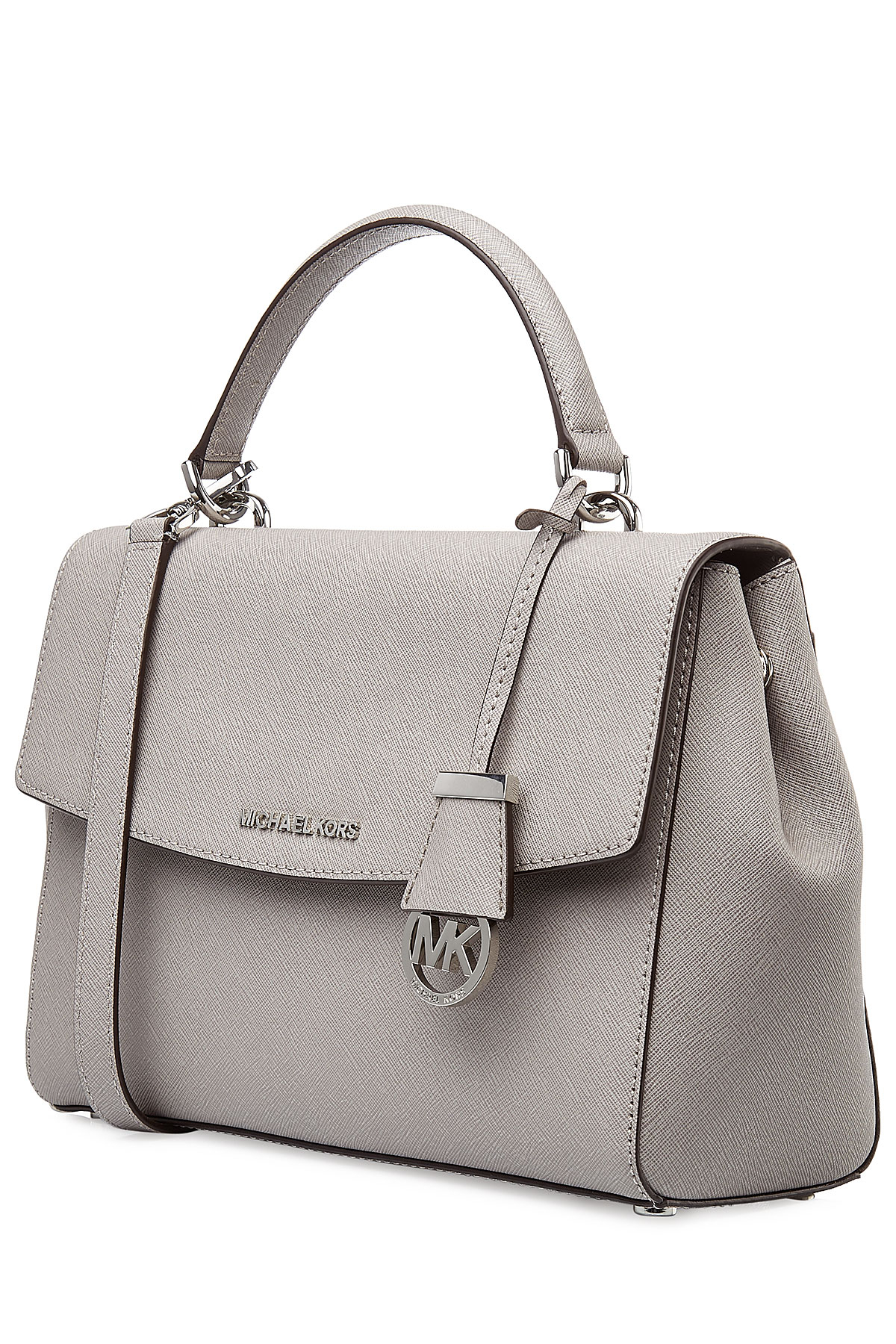 7c2652aa8980 MICHAEL Michael Kors Ava Small Leather Tote - Grey in Gray - Lyst