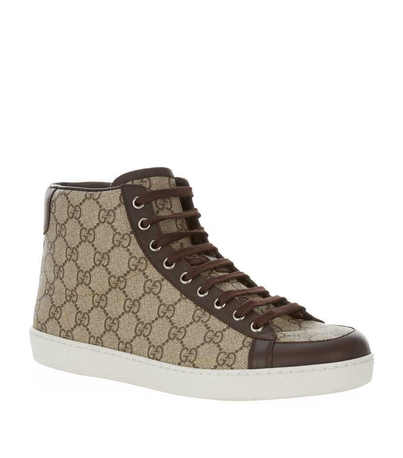 70a5a5074ad Gucci Brooklyn High-top Sneaker in Brown for Men - Lyst