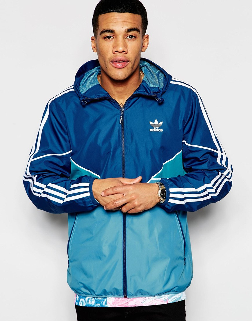Adidas Originals Windbreaker Jacket Aj6978 In Blue For Men