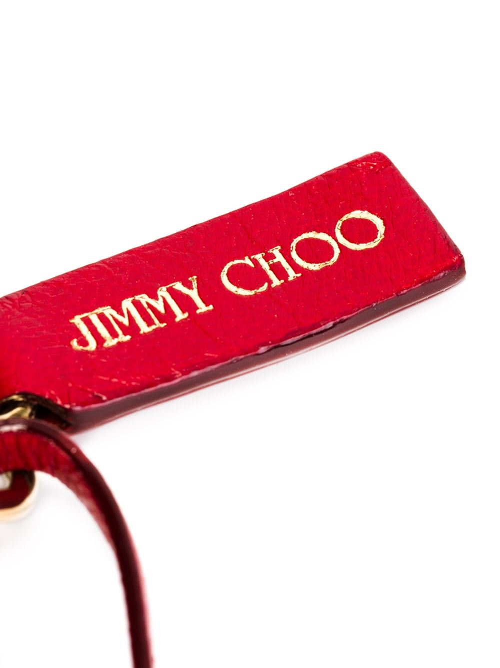 Jimmy choo fringed charm in red lyst for Jimmy s fine jewelry