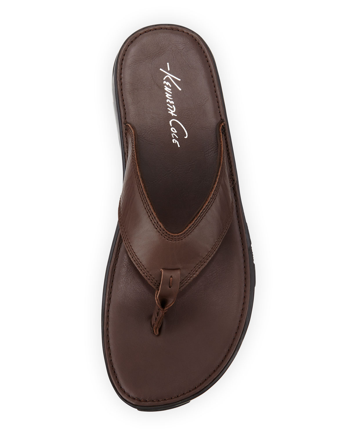 72e884968 Lyst - Kenneth Cole Get-in-shape Leather Thong Sandal in Brown for Men