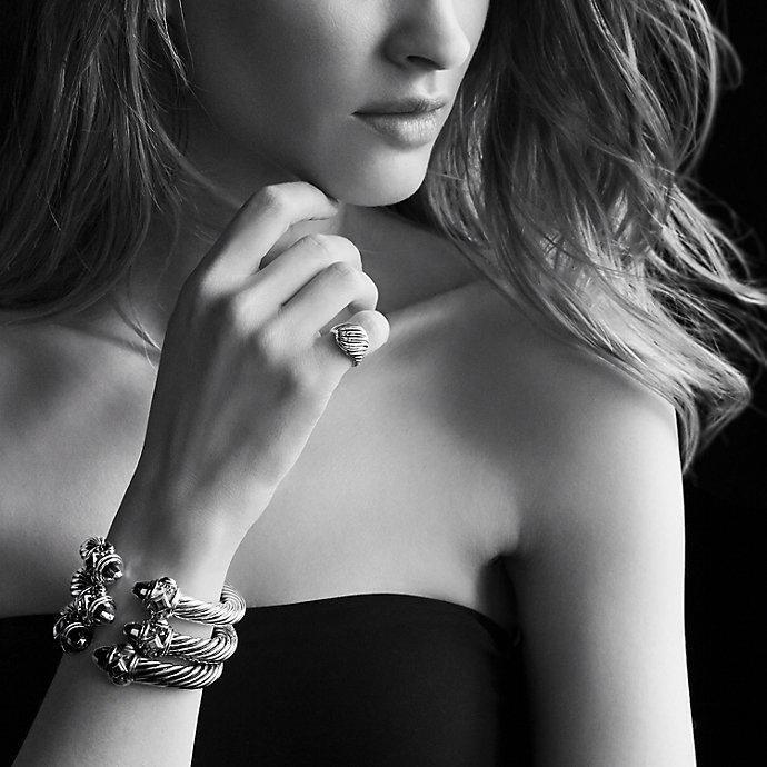 David Yurman Renaissance Bracelet With Diamonds 10mm In