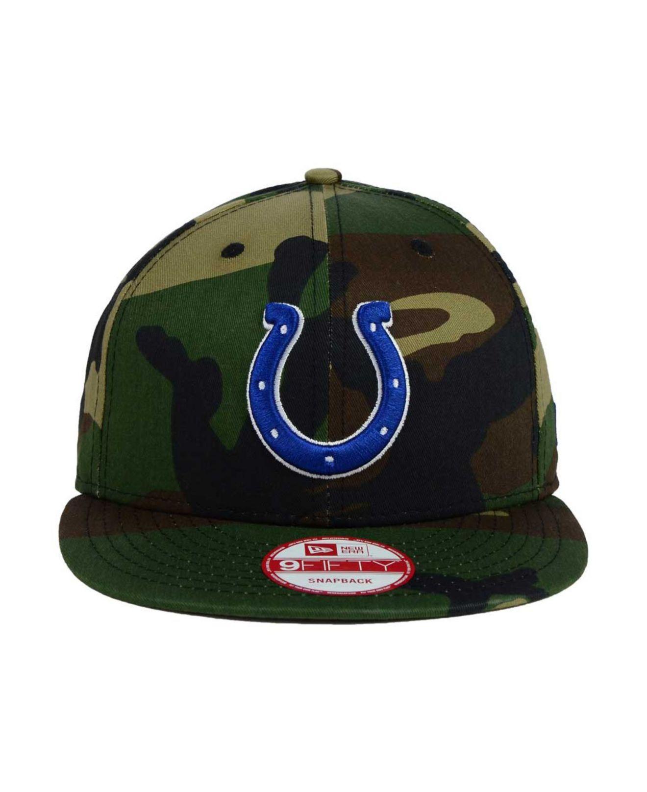 670e91bc523e0 Lyst - KTZ Indianapolis Colts Woodland Camo Team Color 9Fifty ...