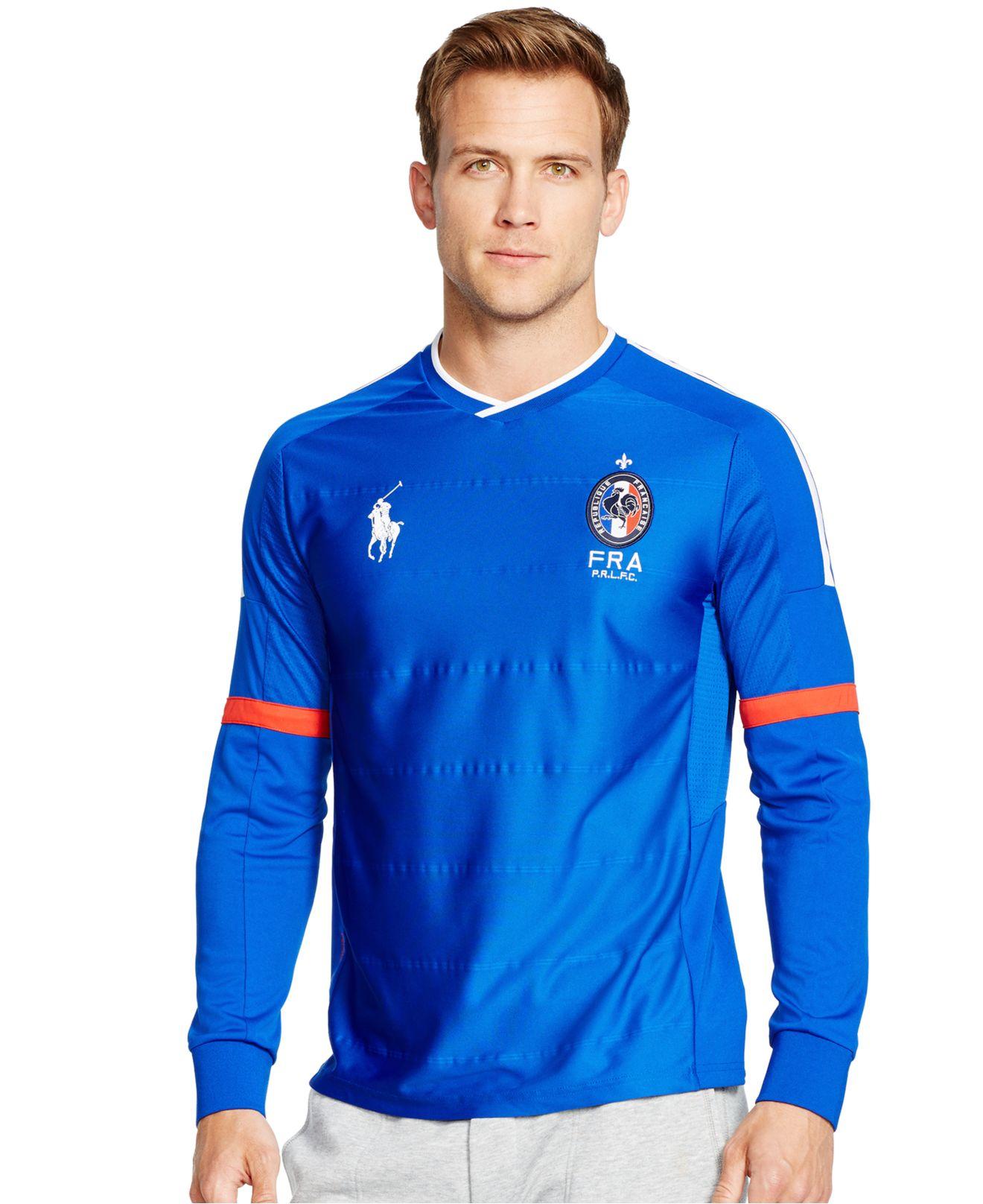 Polo ralph lauren polo sport france long sleeved drop for Ralph lauren polo jersey shirt