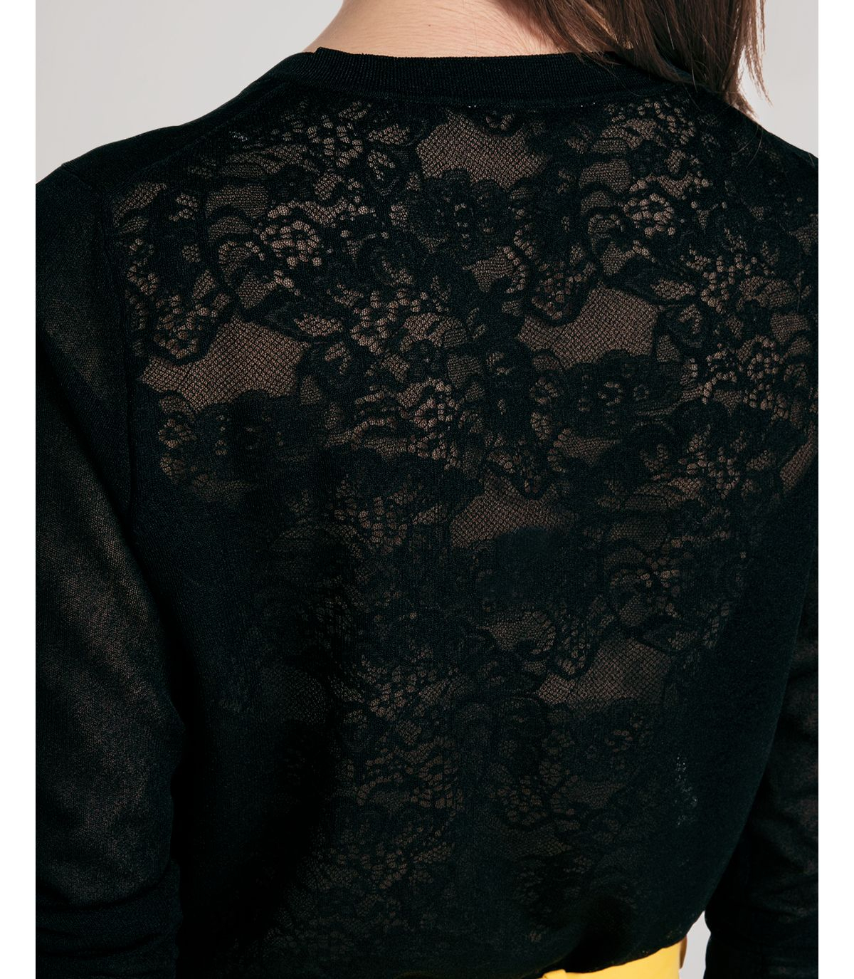 Sandro Cardigan - Ginna Lace Back in Black | Lyst