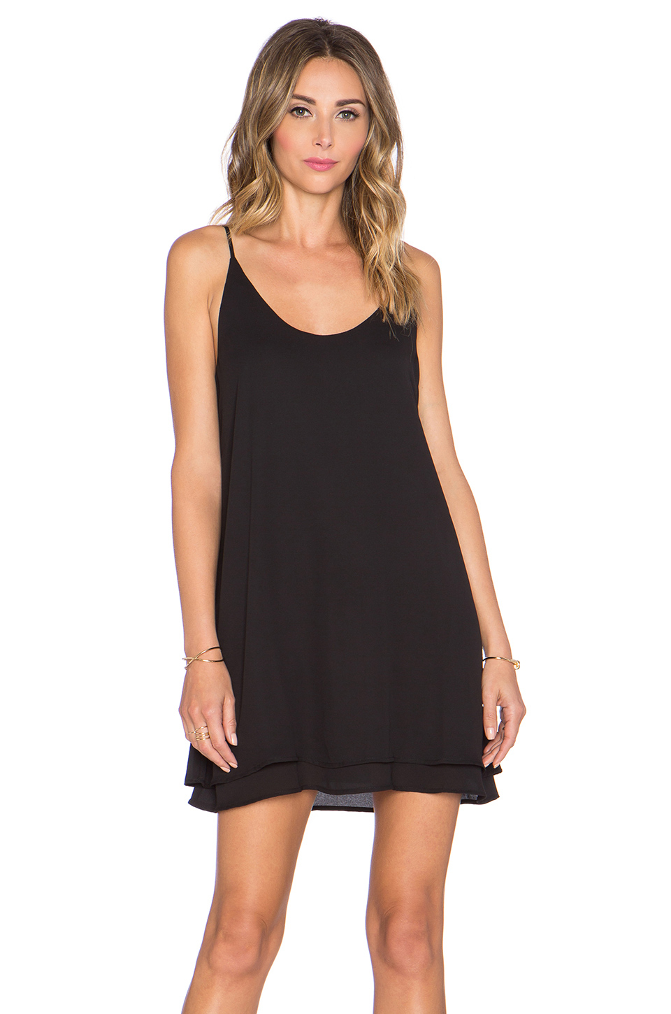 Lyst Krisa Double Layer Mini Dress In Black
