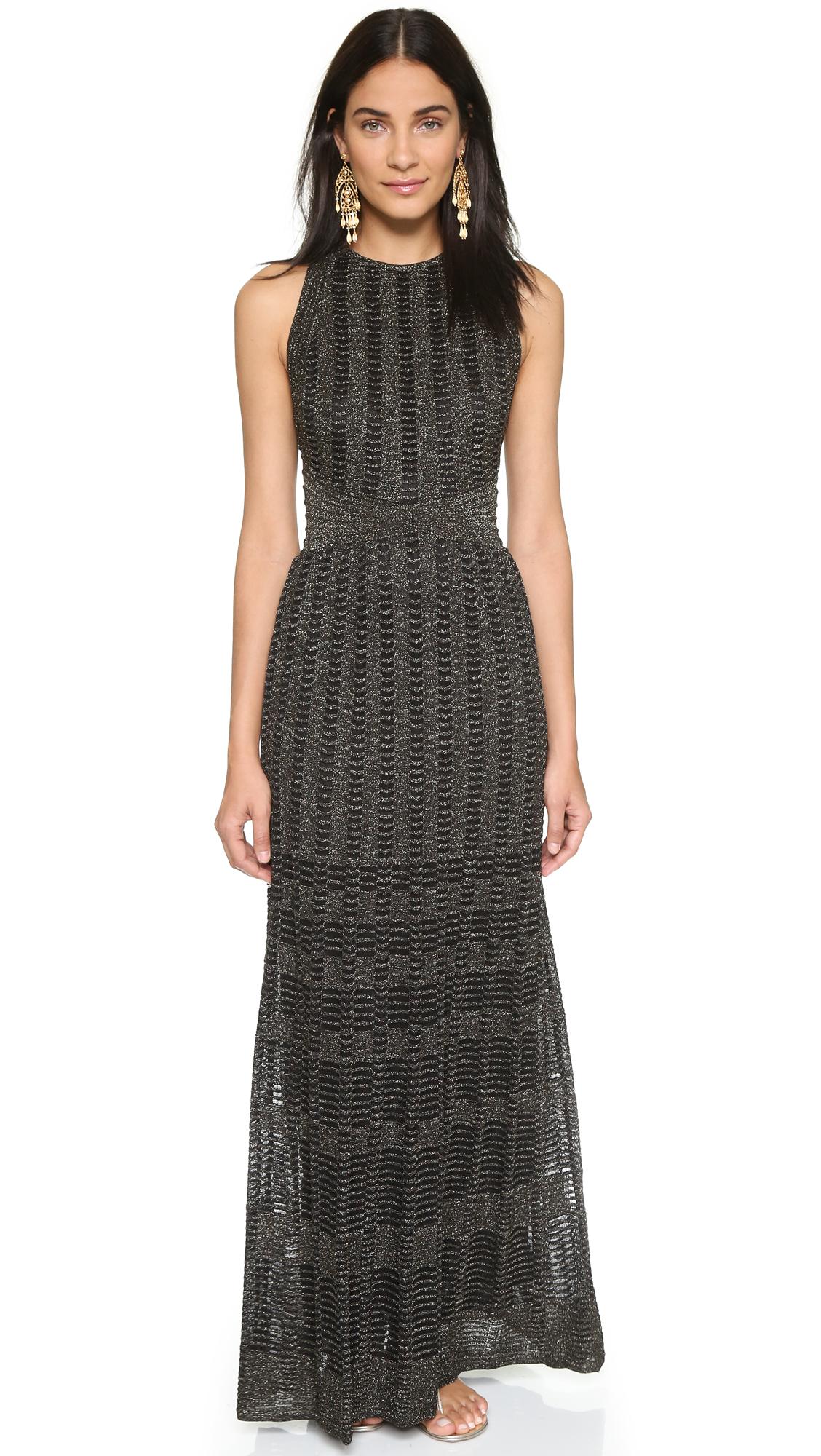 884e47aebd38 Lyst M Missoni Knit Stripe Maxi Dress Black In