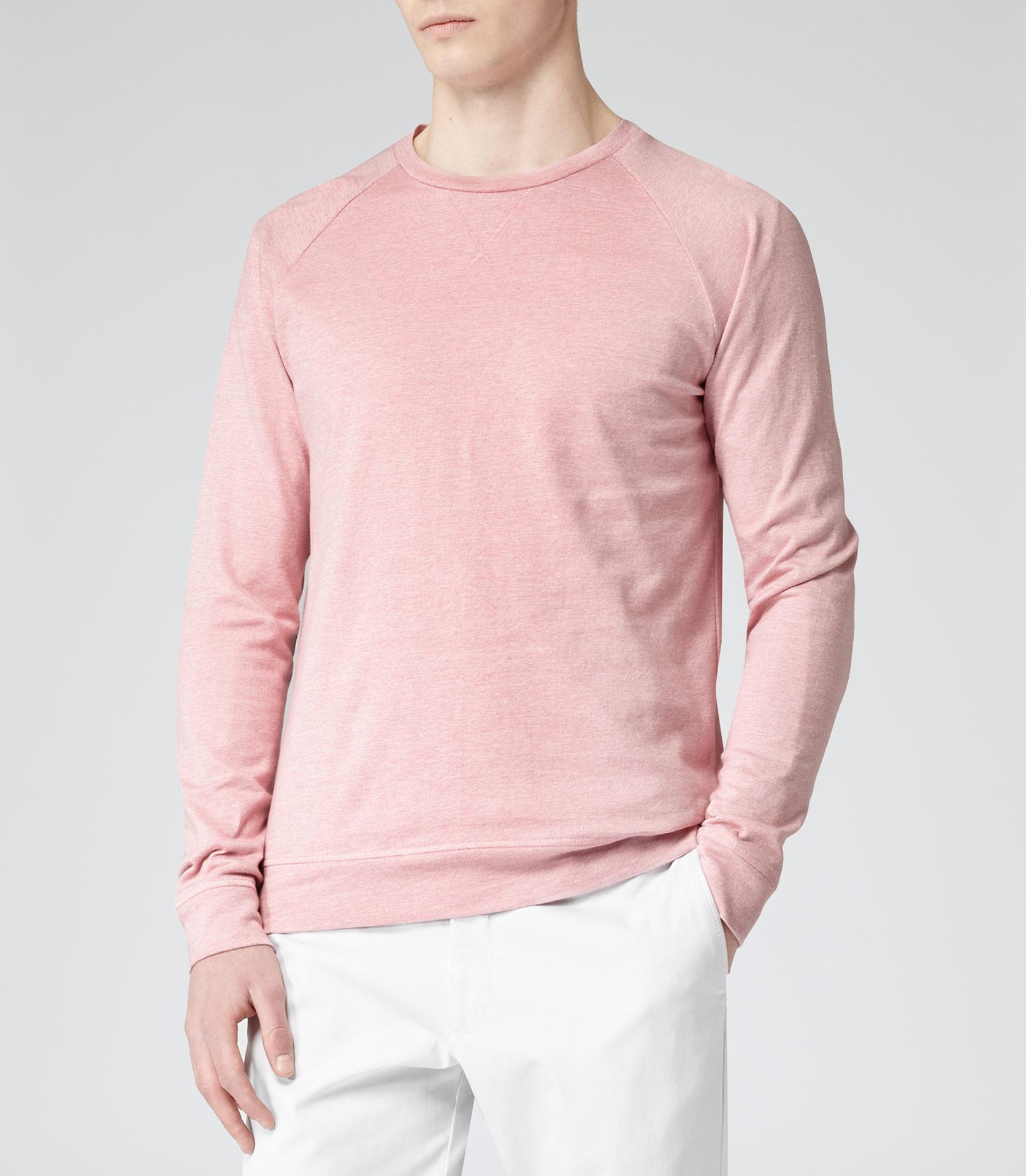 Reiss Court Lightweight Jumper in Pink for Men | Lyst