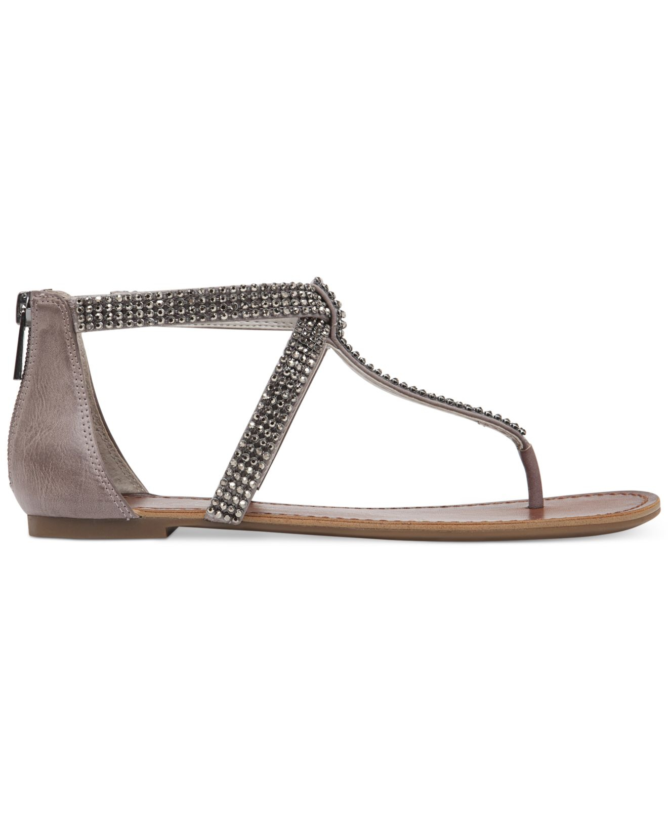 98486a96d39 Lyst - Jessica Simpson Garreth Flat Thong Sandals in Gray