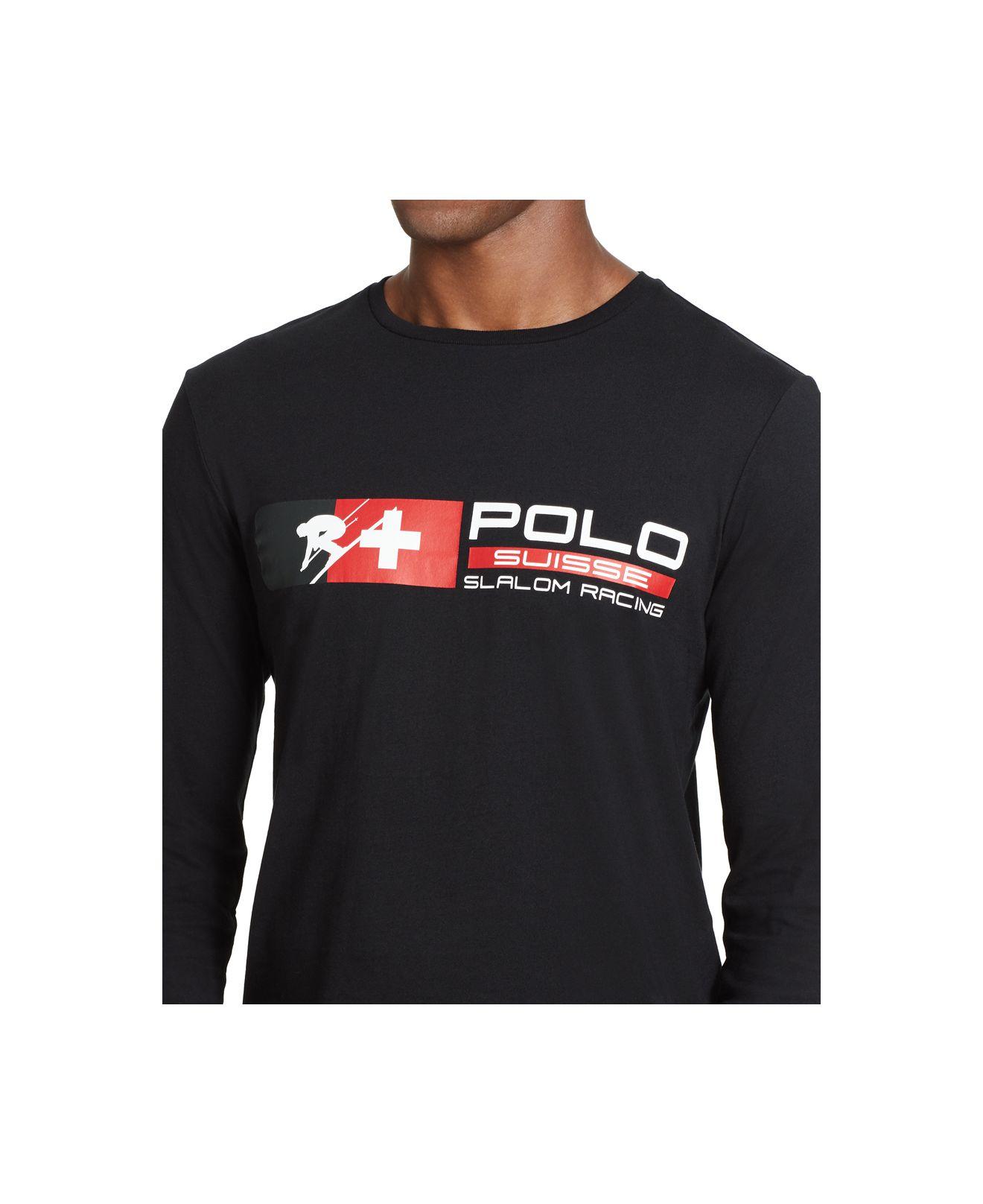 Polo ralph lauren Ski Crew-neck Shirt in Black for Men (Polo Black)