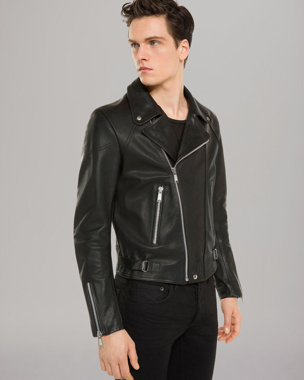 Lyst Sandro Norton Leather Jacket In Black For Men