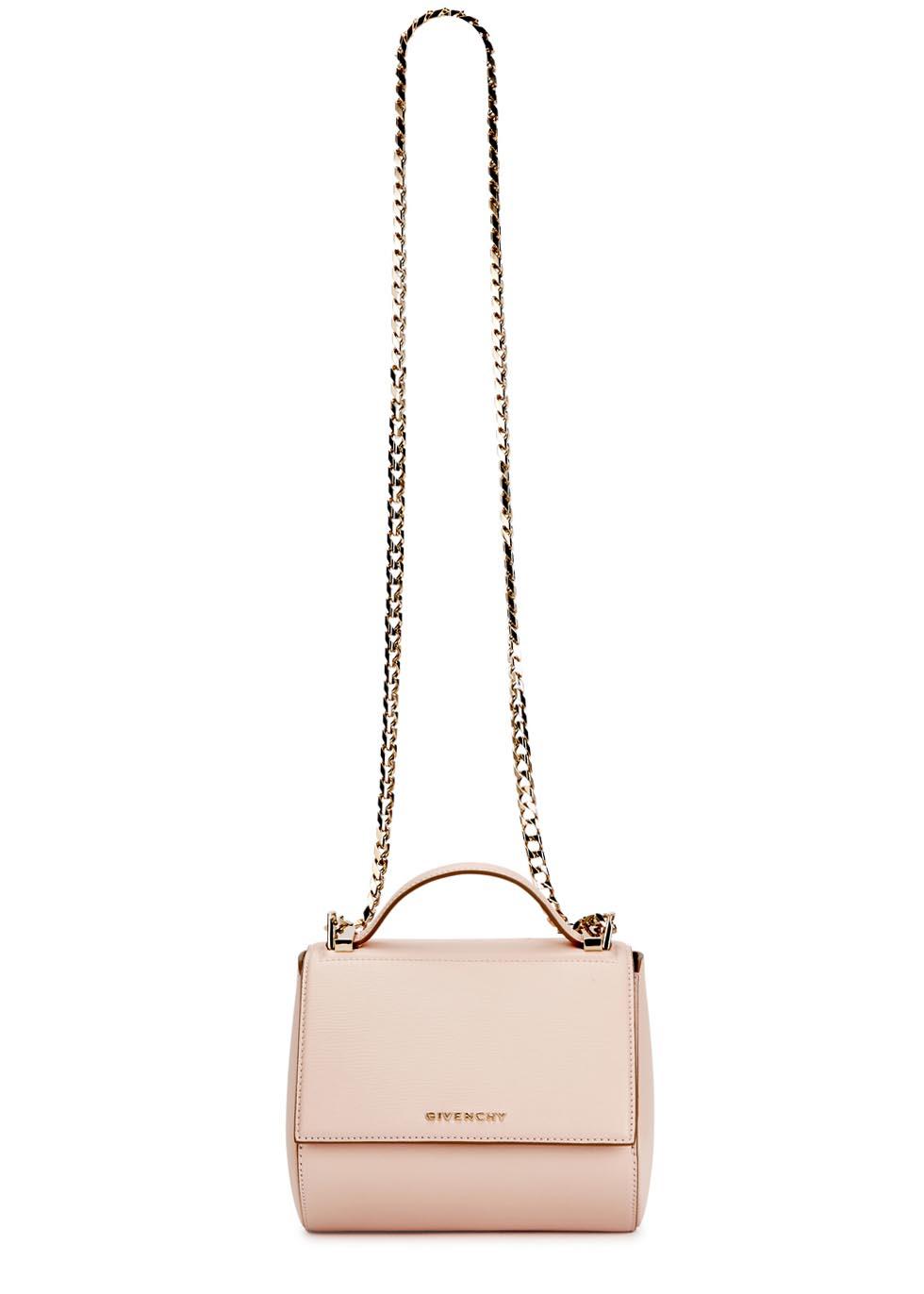 ad031465c8 Givenchy Pandora Mini Blush Leather Box Bag in Natural - Lyst