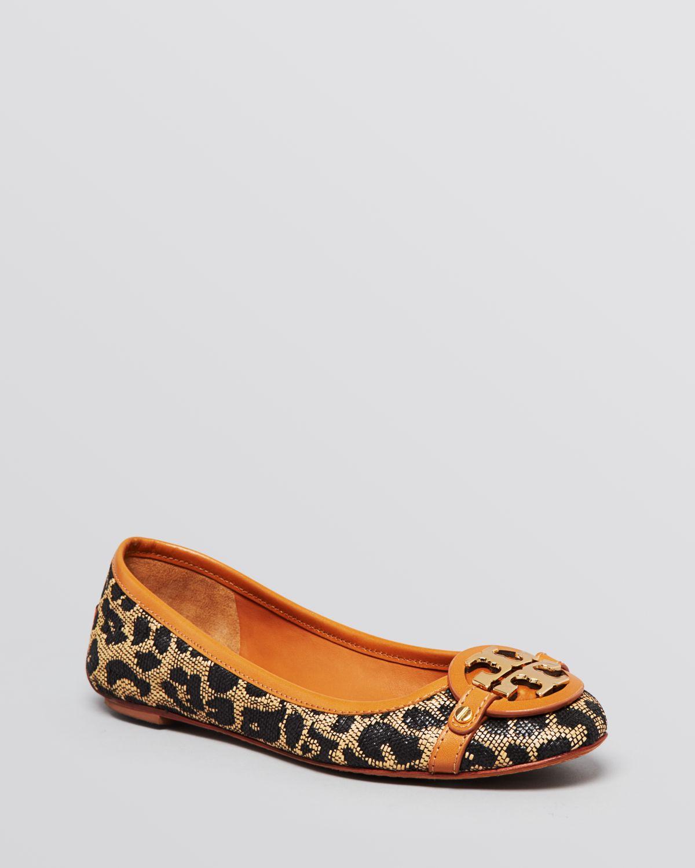 54f189ad045 Lyst - Tory Burch Ballet Flats Aaden Leopard Print