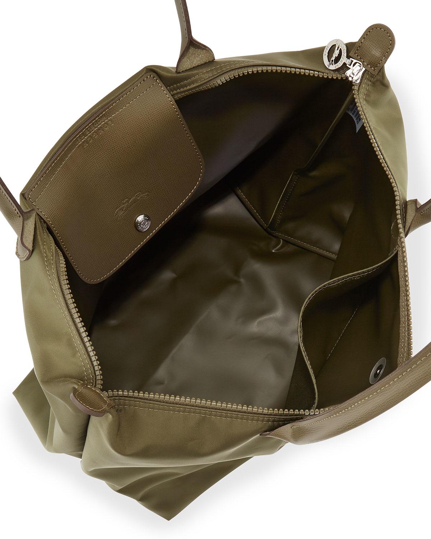 43fa5f5c951e Lyst - Longchamp Le Pliage Neo Large Nylon Shoulder Tote Bag in Green