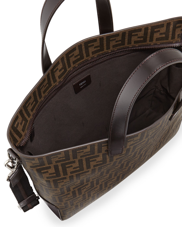 862f547dd9c1 ... uk fendi mens zucca canvas tote bag in brown lyst b9b0e 35962