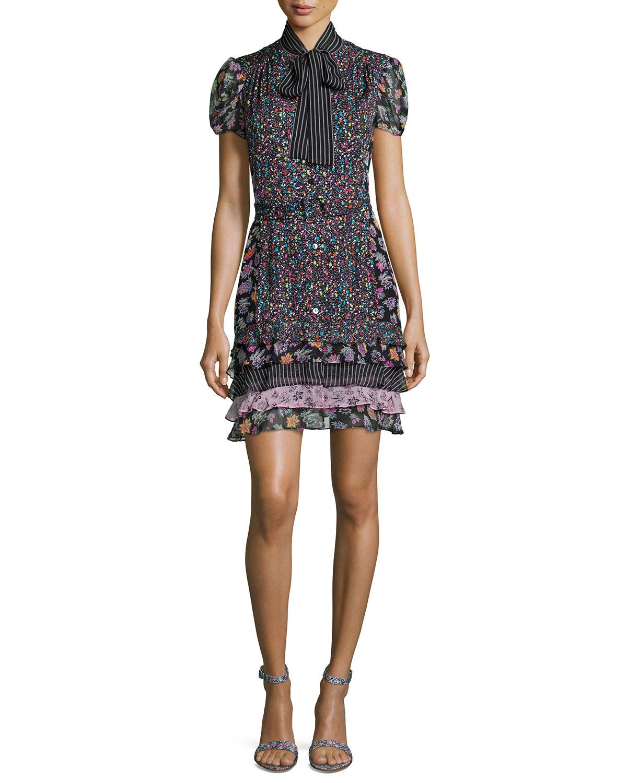 Lyst diane von furstenberg short sleeve multipattern for Diane von furstenberg clothes