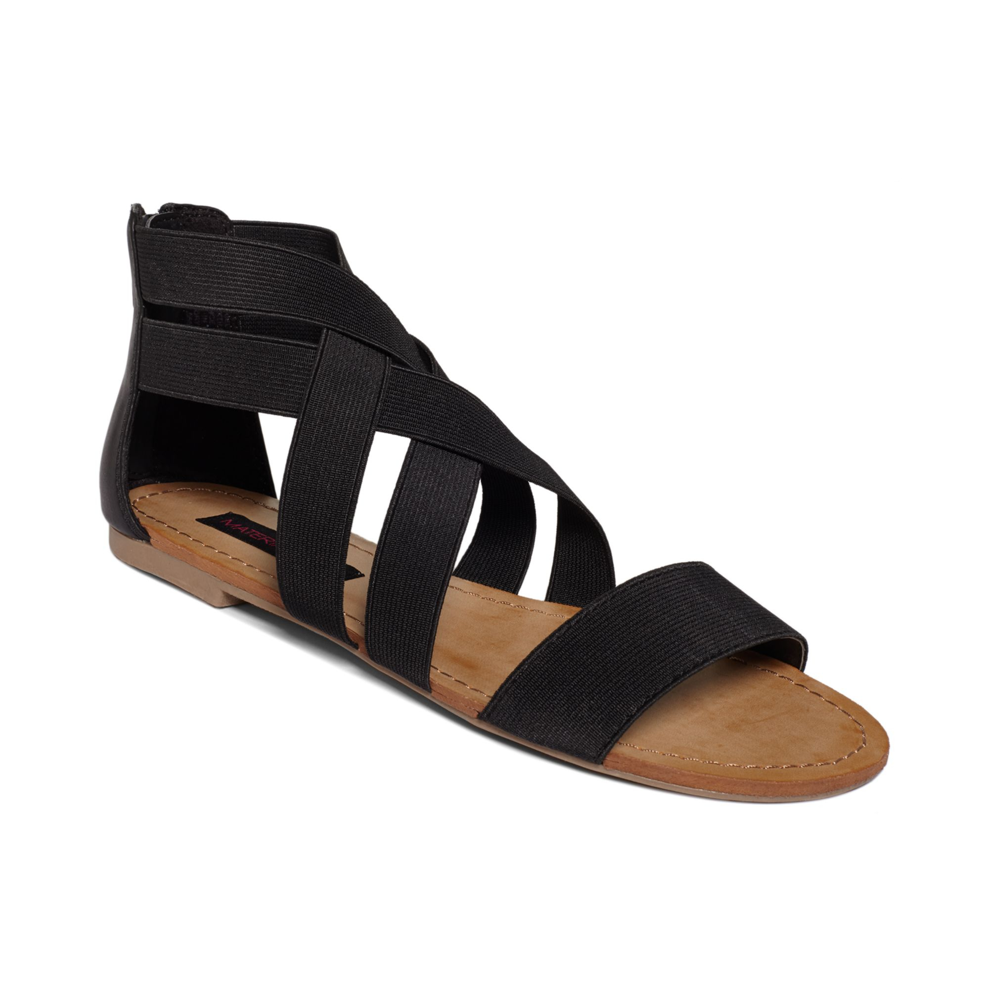 Lyst Material Girl Ariel Flat Sandals In Black