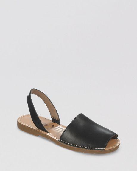 Sam Edelman Peep Toe Flat Espadrille Sandals Bray In Black ...